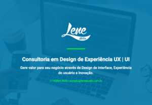 Consultoria em Design de Experiência UX   UI e Transformação Digital